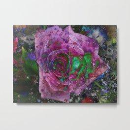 Rose Of Corrosion Metal Print