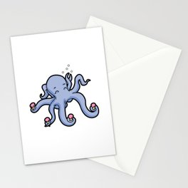 happy octopus ice cream time Stationery Cards