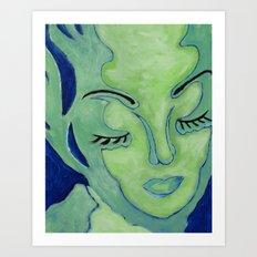 Mug Shot Blue/Lares and Penates Series Art Print