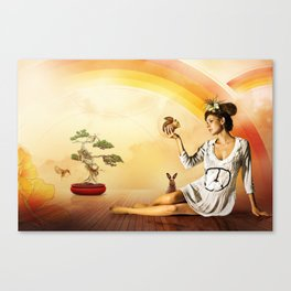 Snow White was a Hippie Canvas Print