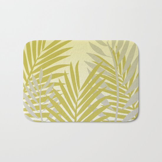 TROPICAL PALM LEAVES 2 Bath Mat