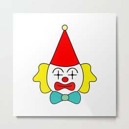 Clown - funny face. Metal Print