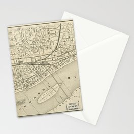 Map of Harrisburg, Pennsylvania (1884) Stationery Cards