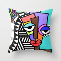 artsy Throw Pillows featuring Artsy by Andrea Silvestri