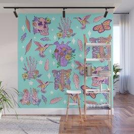 Pastel Goth Floral Morbid Anatomy Kawaii Witchy Wall Mural