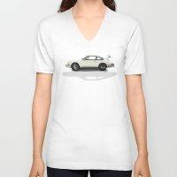 porsche V-neck T-shirts featuring Porsche by Tony Vazquez