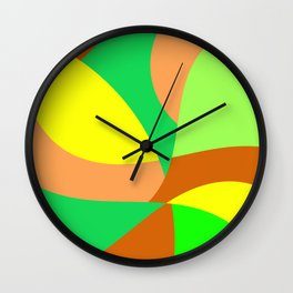 Mid century retro colors looking cool Wall Clock