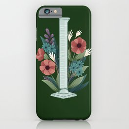 Floral Graduated Cylinder iPhone Case