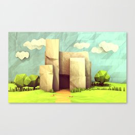 Paper House Canvas Print