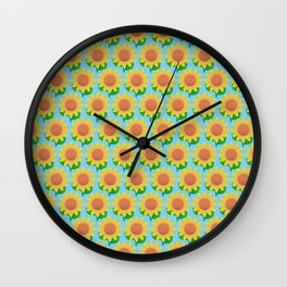 Sunflower Pattern_F Wall Clock