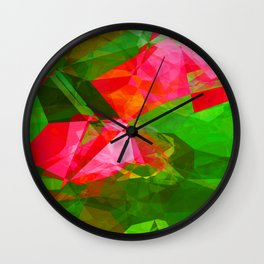 Pink Roses in Anzures 5  Abstract Polygons 1 Wall Clock
