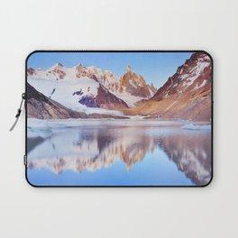 Cerro Torre, Patagonia, Argentina reflected in lake below, at sunrise Laptop Sleeve