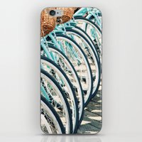 bicycles iPhone & iPod Skins featuring Bicycles by Jewels