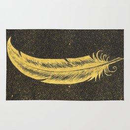 Yellow Feather Rug