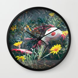 Molly in the Sunshine Field Wall Clock