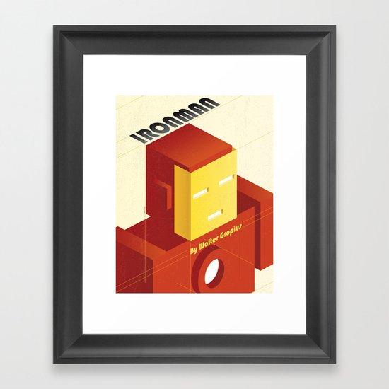 BAUHAUS SPIRIT - Ironman Framed Art Print