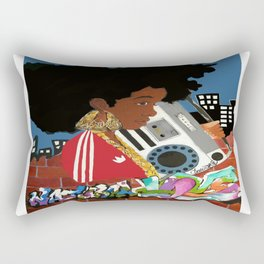 Old school Afro Rectangular Pillow