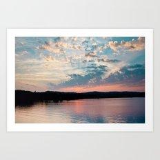 Sunrise over Beaver Art Print