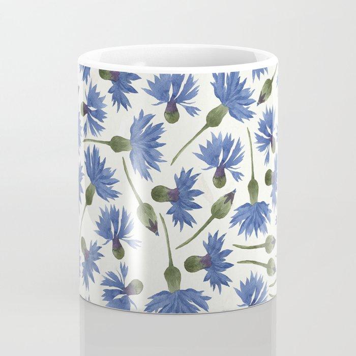 Vintage Pressed Flowers - Blue Cornflower Coffee Mug