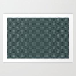 Juniper Berry Green PPG1145-6 Polka Dots on Night Watch PPG1145-7 Art Print