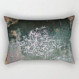 Abandoned House Graffiti II Rectangular Pillow