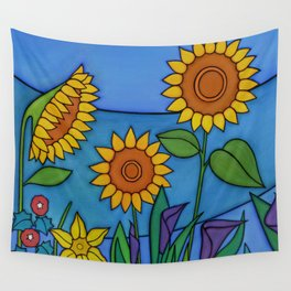 Sunflower Dance Wall Tapestry