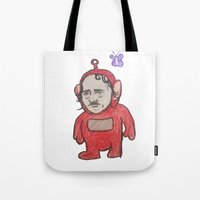 warcraft Tote Bags featuring Trolltubbies by SmallWheel