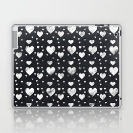 Chalkboard Hearts Pattern Laptop & iPad Skin