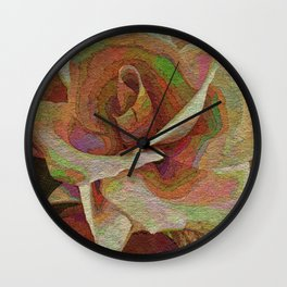 Textured Rose Wall Clock