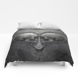 Gothic Skull Heart Comforters