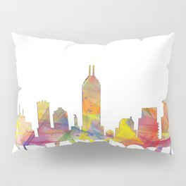 Indianapolis Indiana  Skyline MCLR 2 Pillow Sham