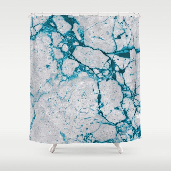 Marble Tie Dye Shower Curtain