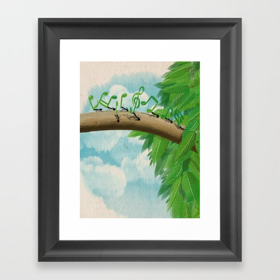 Music of Nature Framed Art Print