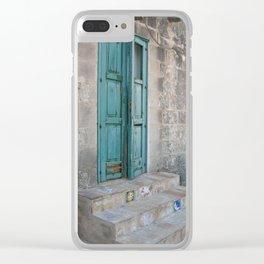 Turquesa Clear iPhone Case
