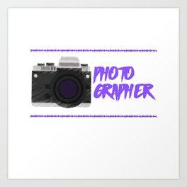 Passionate Photographer Art Print