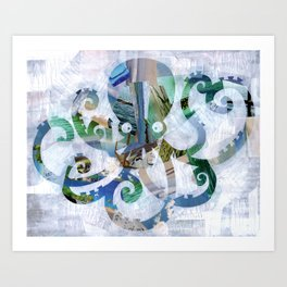 For the love of Octopus Art Print
