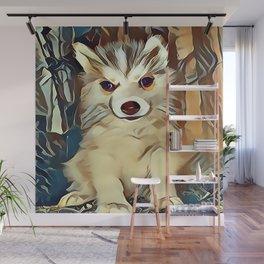 Siberian Husky Puppy Wall Mural