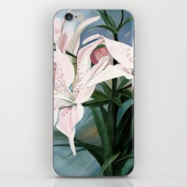 Watercolor Botanical Garden Flower White Lilies iPhone Skin