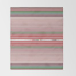 Aztec Blush Coral Aqua Stripe Pattern Throw Blanket