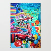 cars Canvas Prints featuring Cars by John Turck