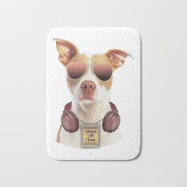 Cool music dog with Access All Areas Bath Mat