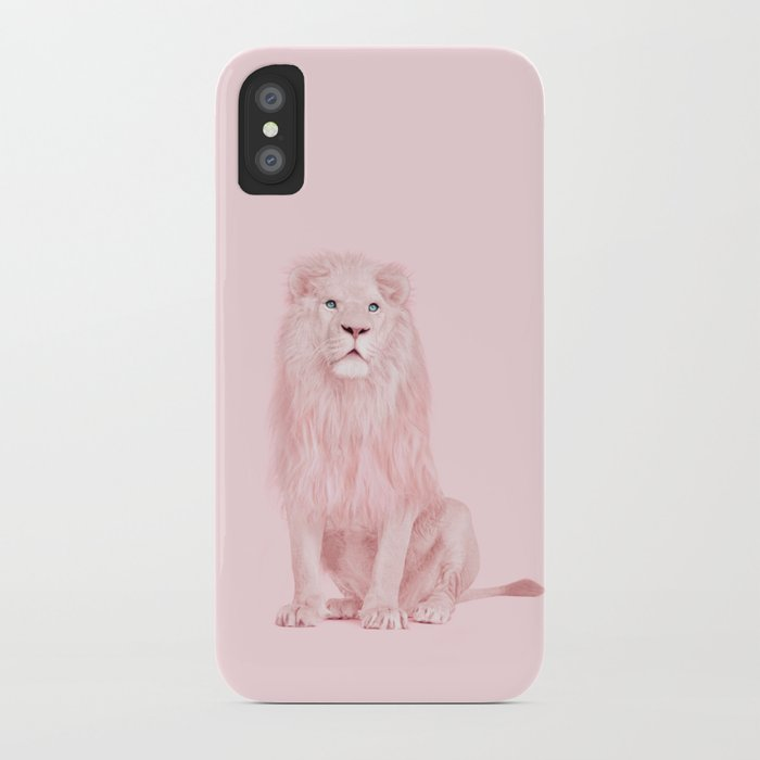 pink lion iphone case