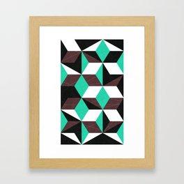 rhombus mania Framed Art Print