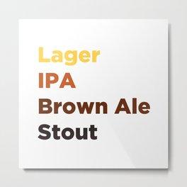 Beer Lover Metal Print