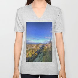 Edinburgh City View Unisex V-Neck