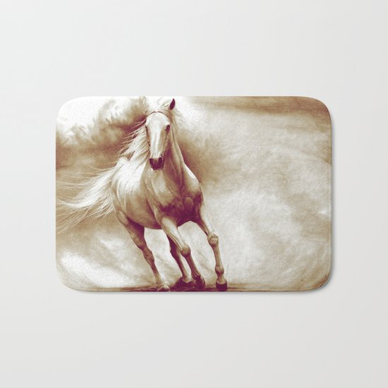 Horse in storm II. recolored version Bath Mat