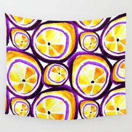 Sweet Plum Lemon Wall Tapestry