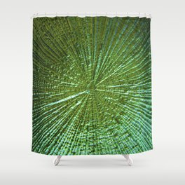 Emerald Ripple Shower Curtain