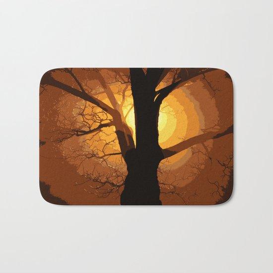 Sunset over the Tree I Bath Mat