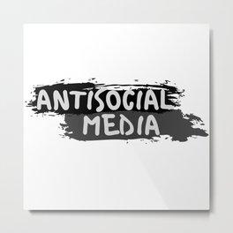 "Antisocial Media aka Anti-""Social Media"" Metal Print"